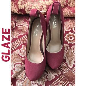 Glaze Nikki High Heel Pump hidden platform Sz  8